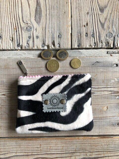 Handgemaakte portemonnee zebra