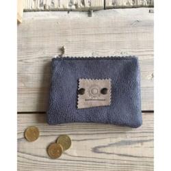 Handgemaakte portemonnee - jeans blue