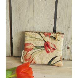 Handgemaakte portemonnee tulpen