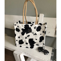 handgemaakte tas koeienprint