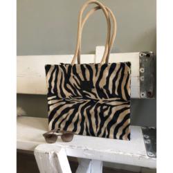 handgemaakte tas zebraprint